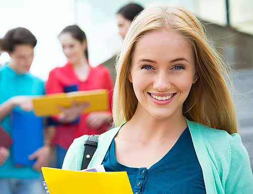 yorkshire college planning happy college student