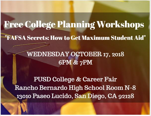 free college planning workshops in San Diego
